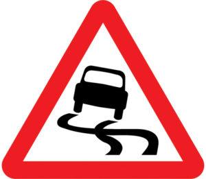 UK Slippery Surface sign
