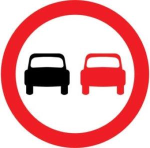 UK No overtaking sign