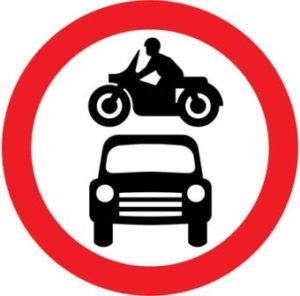 UK No vehicles sign
