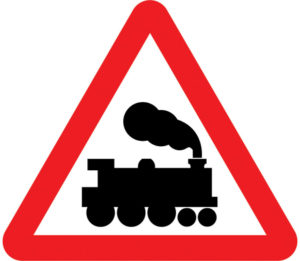 UK Railway Crossing No Barrier sign