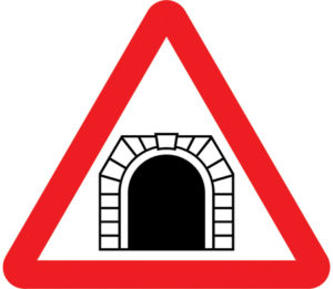 UK Tunnel sign