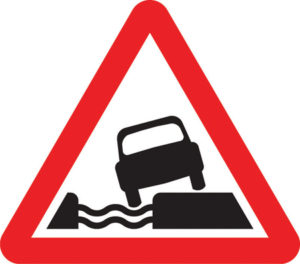UK Water Course Road sign